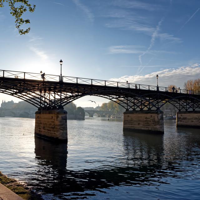 """""""Pont des Arts bridge"""" stock image"""
