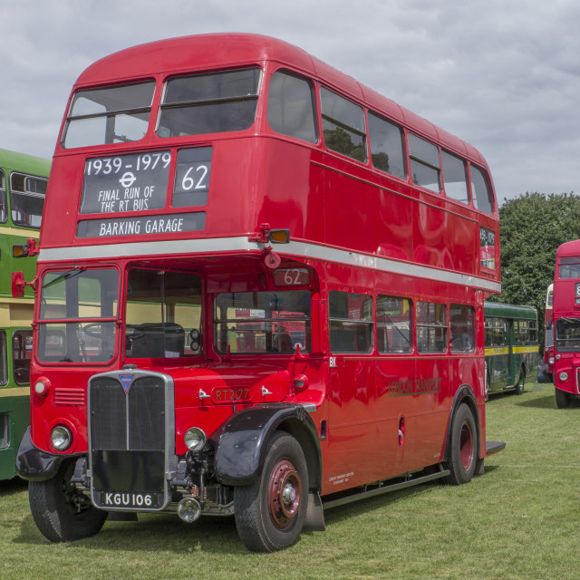 """AEC Regent 111 London Transport RT Bus built 1949"" stock image"