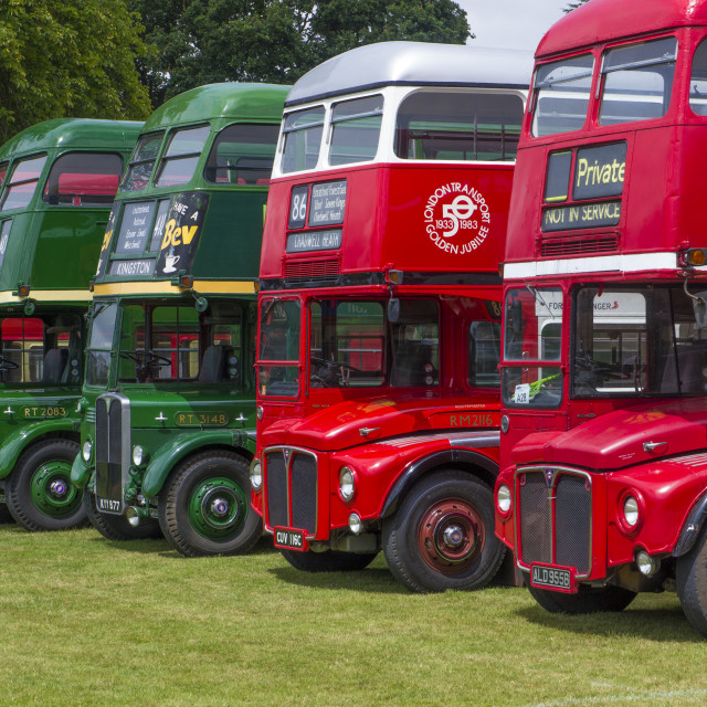 """Alton Bus Rally & Running Day 2019"" stock image"