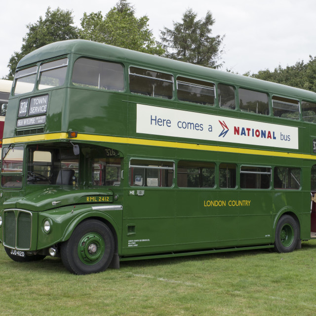 """London Country Routemaster Bus RML 2412, JJD 412D"" stock image"