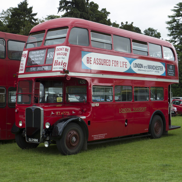 """Former London Transport RT Bus"" stock image"