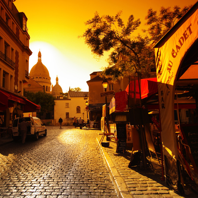 """Butte Montmartre sunrise"" stock image"