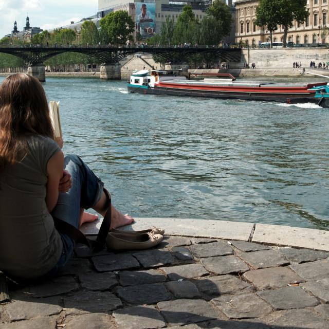 """Summertime in Paris"" stock image"