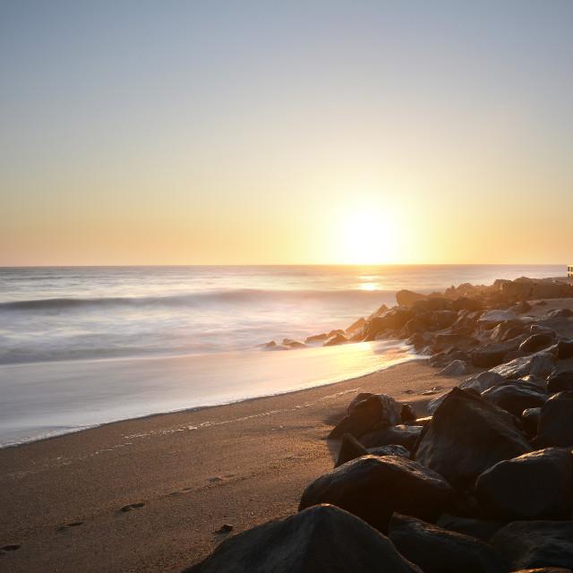 """swakopmund sunsets"" stock image"