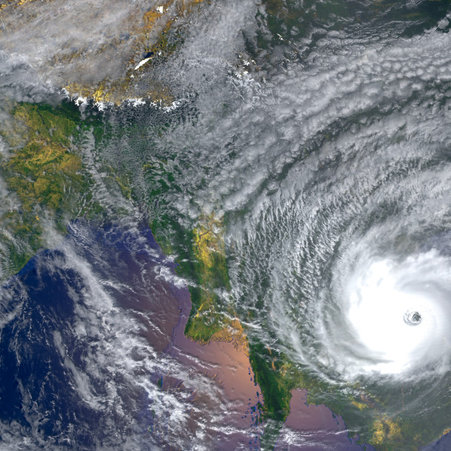 """tropical hurricanes approaching Asia .Elements of this image furnished by..."" stock image"