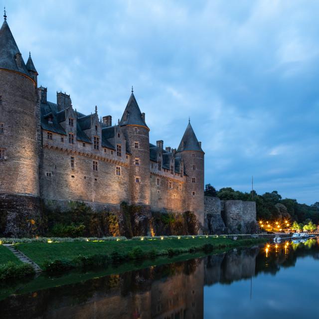 """""""Chateau de Josselin"""" stock image"""