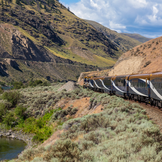 """The Rocky Mountaineer"" stock image"