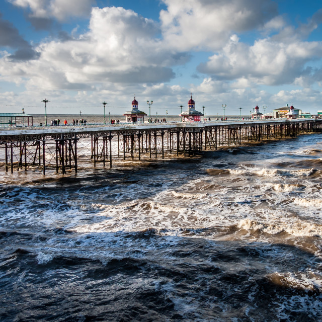 """North Pier Blackpool"" stock image"