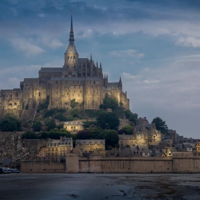 """Mont St Michel"" stock image"