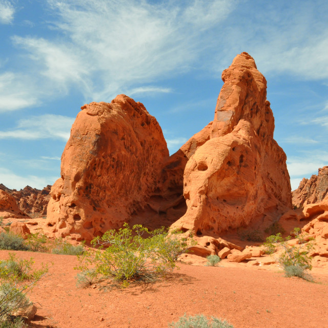 """""""valley of fire in nevada"""" stock image"""
