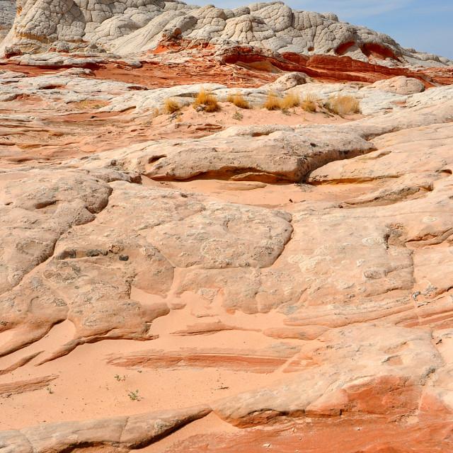 """white pockets between utah and arizona"" stock image"