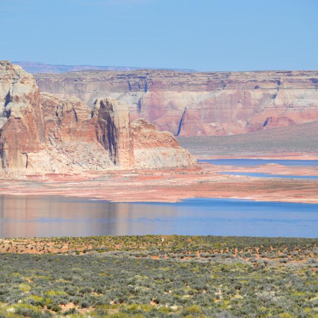 """lake powell between arizona and utah"" stock image"