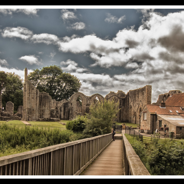 """Finchale Priory"" stock image"