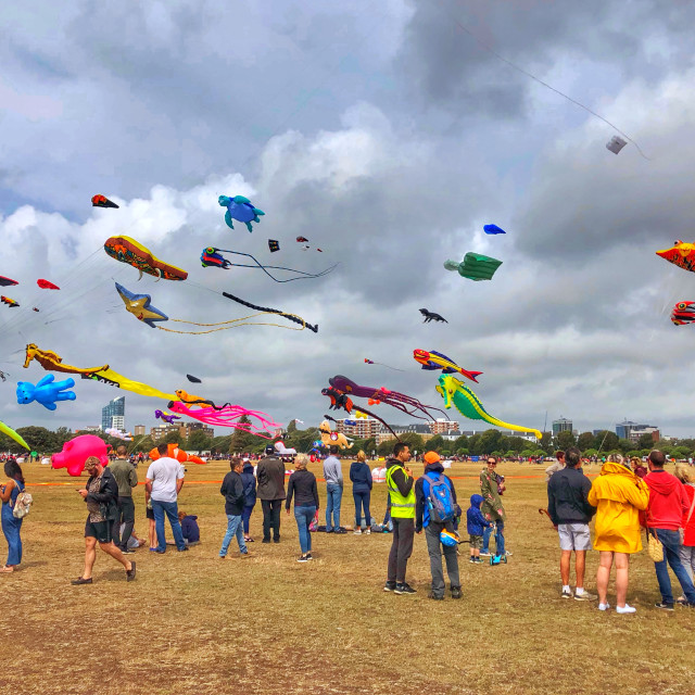 """Kite festival day in Southsea"" stock image"