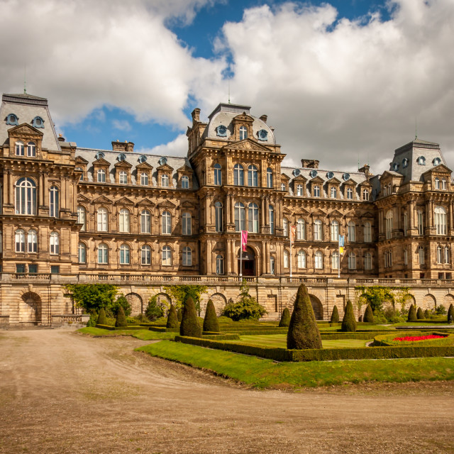 """The Bowes Museum situated in the market town of Barnard Castle in Teesdale Co. Durham. It was built as a public art gallery for John Bowes and Josephine Chevalier, the Countess of Montalbo, and it was designed in the style of a French Chateau."" stock image"