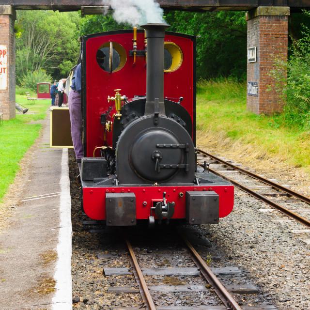 """Bala Lake Railway Steam Engine"" stock image"