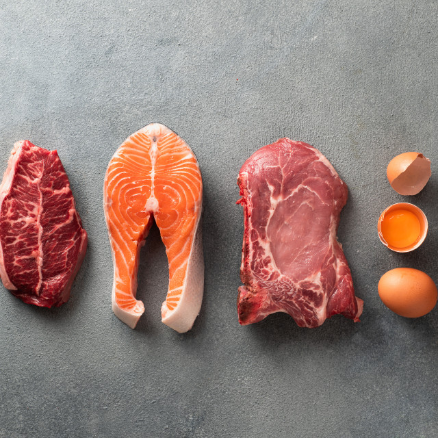 """""""Carnivore or keto diet, zero or low carb concept, top view"""" stock image"""