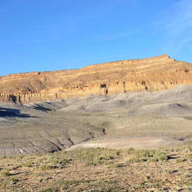 """driving cottonwood canyon road in utah"" stock image"