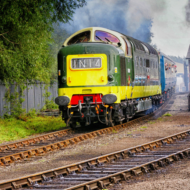 """""""Deltic Departing"""" stock image"""