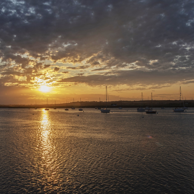 """Sunset at South Fambridge (II)"" stock image"