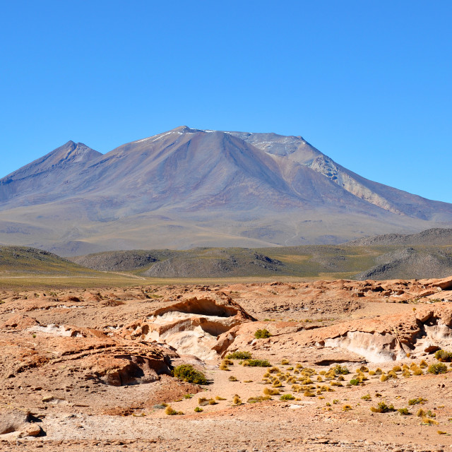 """""""travelling the lagunas in bolivas andes mountains"""" stock image"""