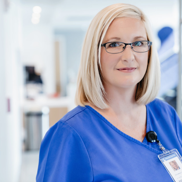 """""""Portrait of confident female doctor in hospital"""" stock image"""
