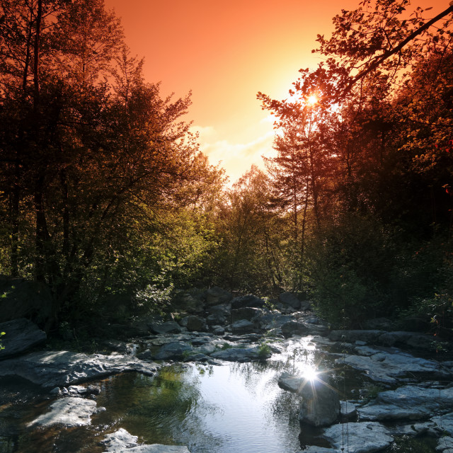 """""""Lost river"""" stock image"""