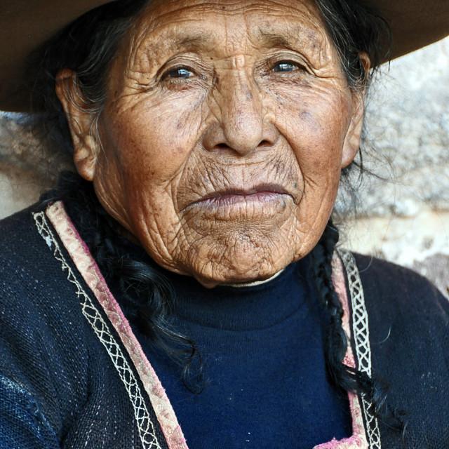"""portraits of peruan native people"" stock image"