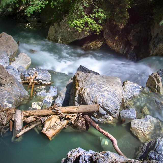 """wild waters - kitzlochklamm"" stock image"
