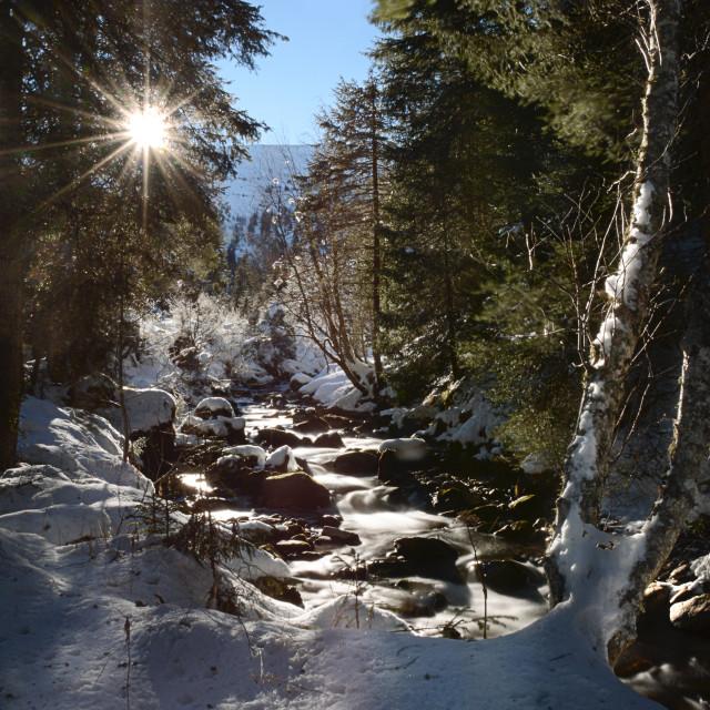 """gastein austria in wintertime"" stock image"