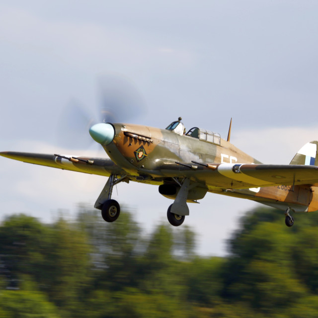 """Hawker Hurricane taking off"" stock image"
