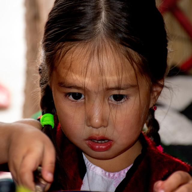 """Kyrgyz Girl"" stock image"
