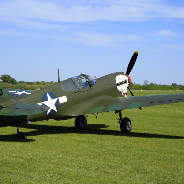 """Curtiss P40 2104590"" stock image"