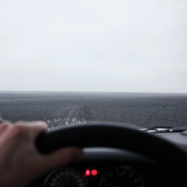 """""""Cropped image hand of driving car"""" stock image"""