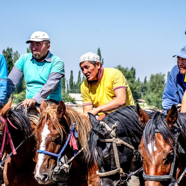 """""""Kyrgyz Horsemen"""" stock image"""