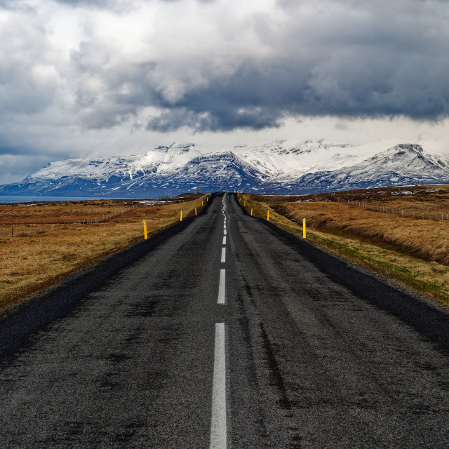 """""""The Icelandic Ring Road"""" stock image"""