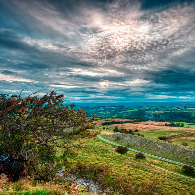 """""""View from the Black mountain"""" stock image"""