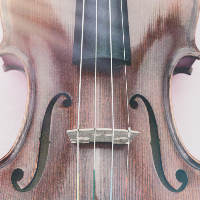 """violin top perspective close up"" stock image"