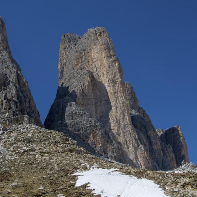 """dolomite mountains italy"" stock image"
