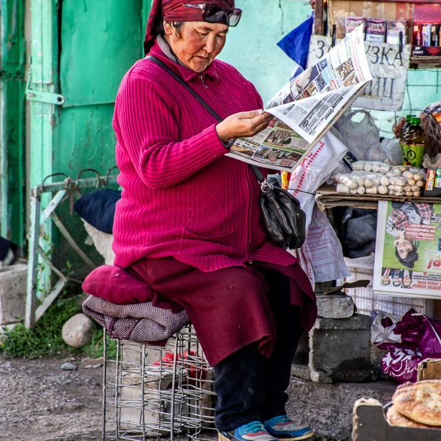"""""""Kyrgyz Woman"""" stock image"""