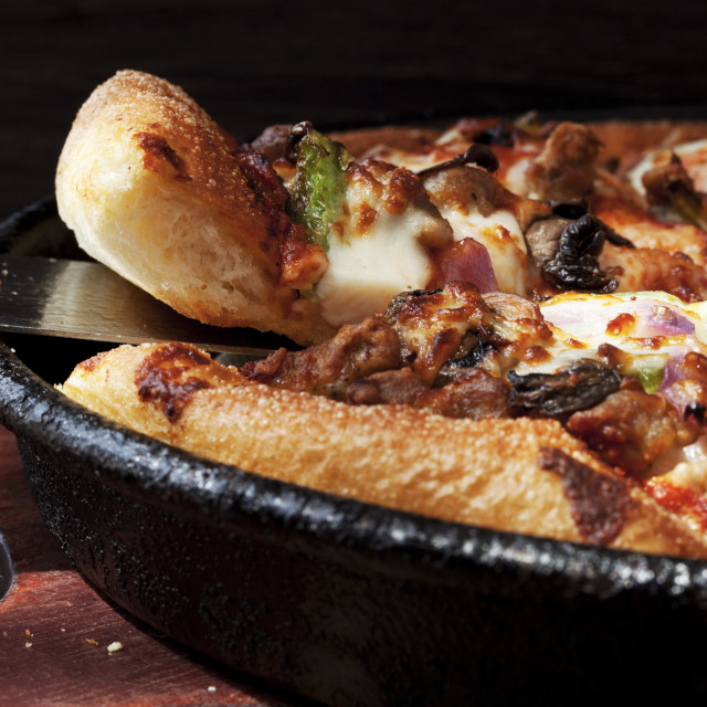 """""""Close-up of spatula in pizza"""" stock image"""