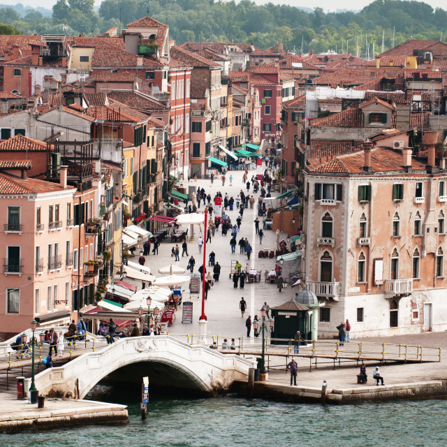"""""""High angle view of Venice city by Grand Canal"""" stock image"""