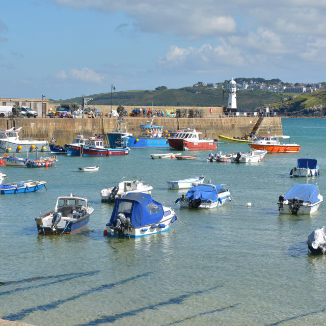 """The Harbour Of St. Ives"" stock image"