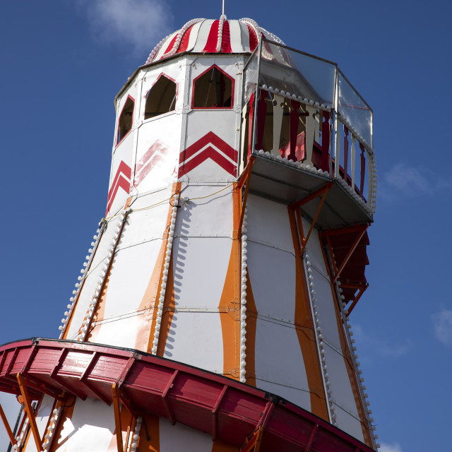 """Helter Skelter on South Parade Pier"" stock image"