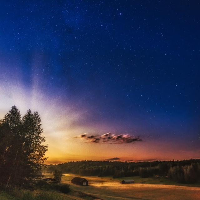 """""""Dawn Of Night"""" stock image"""