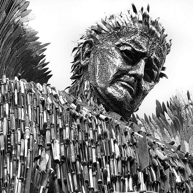 """""""The Knife Angel"""" stock image"""