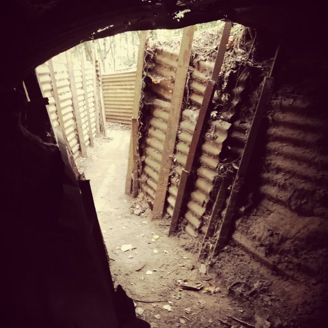 """Trenches Ypres"" stock image"