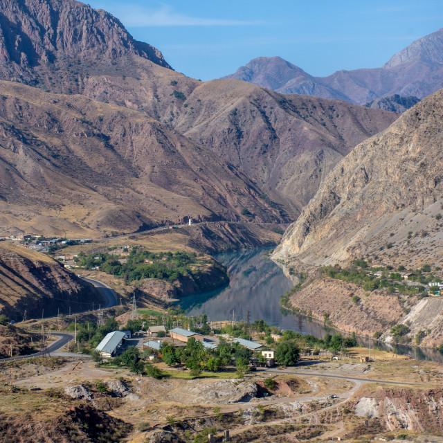 """""""Driving through Kyrgyzstan"""" stock image"""