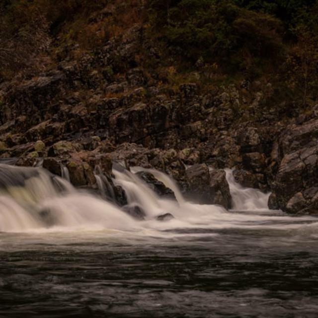 """""""Karangahake gorge falls"""" stock image"""