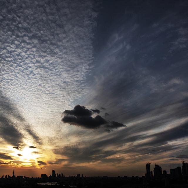 """London City sunset"" stock image"